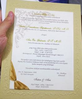 undangan pernikahan simple islami