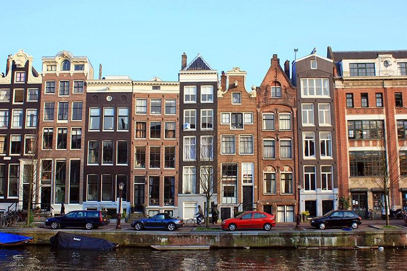 Casas estrechas en Ámsterdam