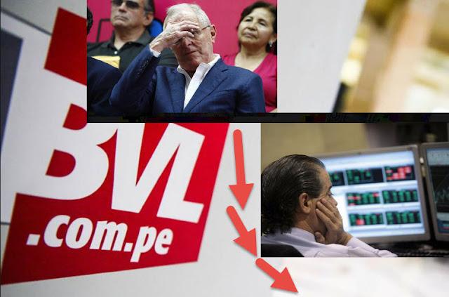 BVL vuelve a caer ante crisis en gobierno de Kuczynski
