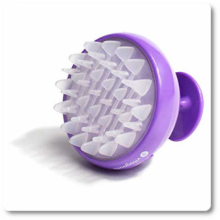 Vitagoods Scalp Massaging Shampoo Brush - Handheld Vibrating Massage, Water-Resistant Device - Purple by Vitagoods