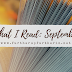 What I Read: September