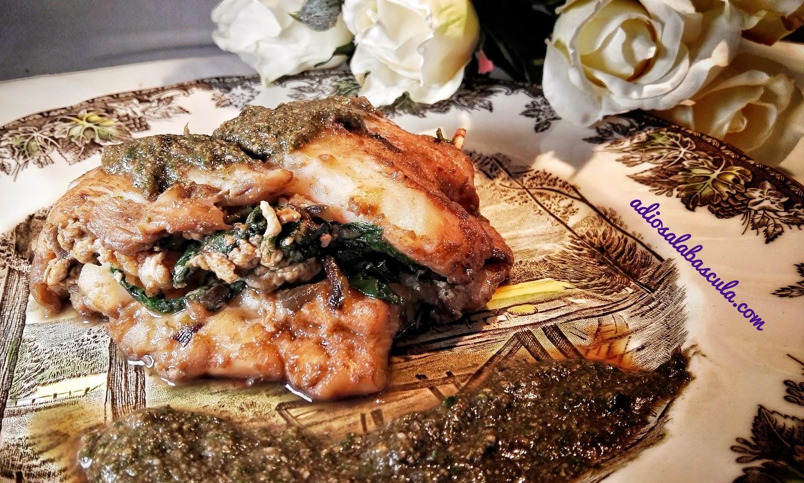 Filetes de merluza rellenos de espinacas y gambas adios for Cocinar filetes de merluza