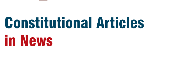Constitutional Articles in News PDF Download