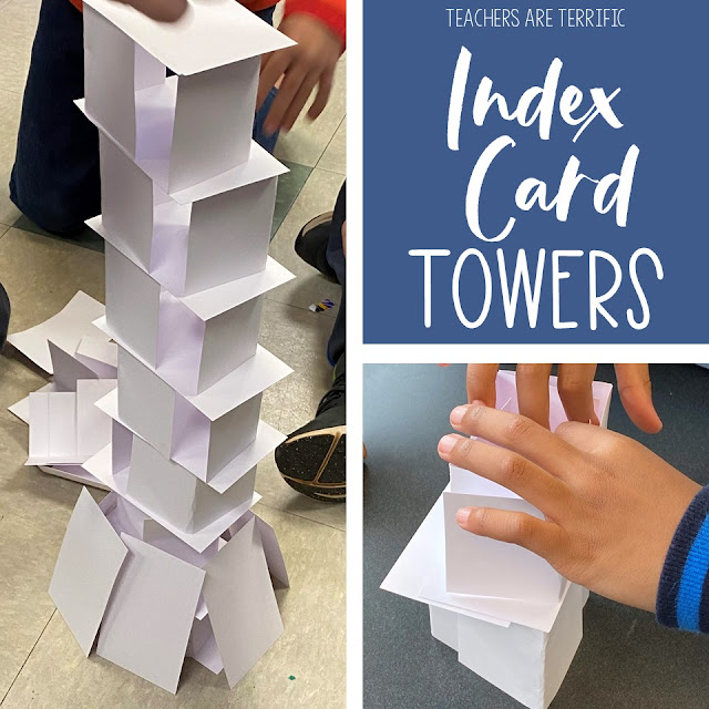 This STEM Tower Challenge is one of the easiest to prepare and the most challenging to complete! It's a perfect challenge to get all kids involved in problem-solving and practicing perseverance.