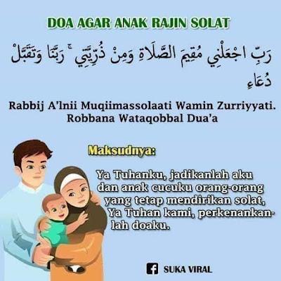 Doa Agar Anak Rajin Solat