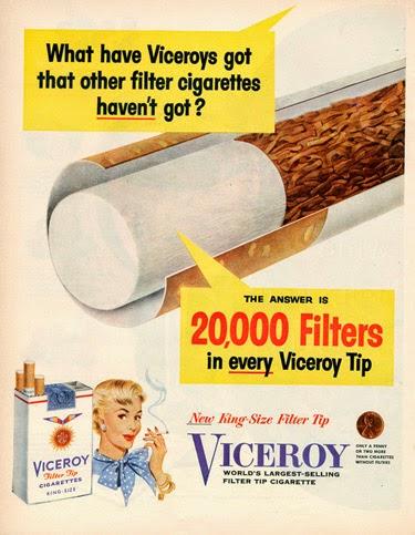 Сигареты с фильтром, история курения