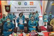 TP PKK Sanggau Ikuti Rakerda IX Tahun 2021 Secara Virtual