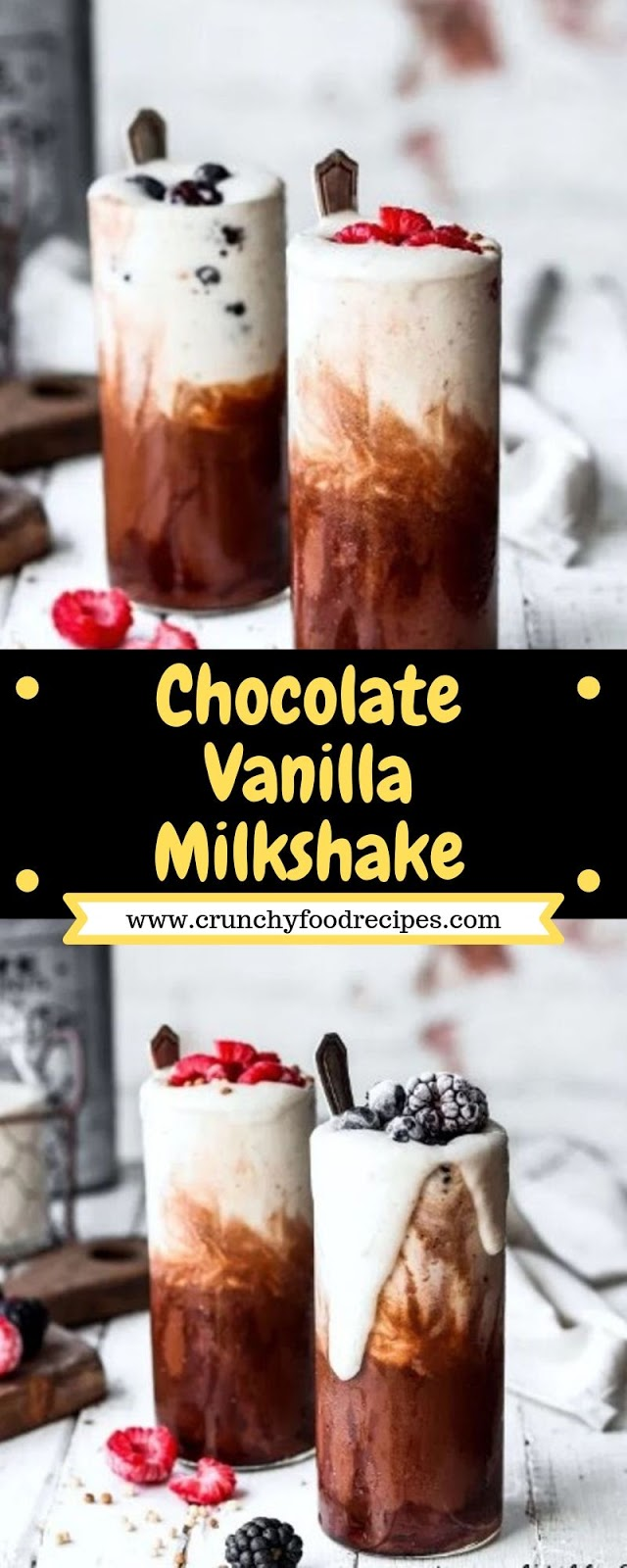 Chocolate Vanilla Milkshake