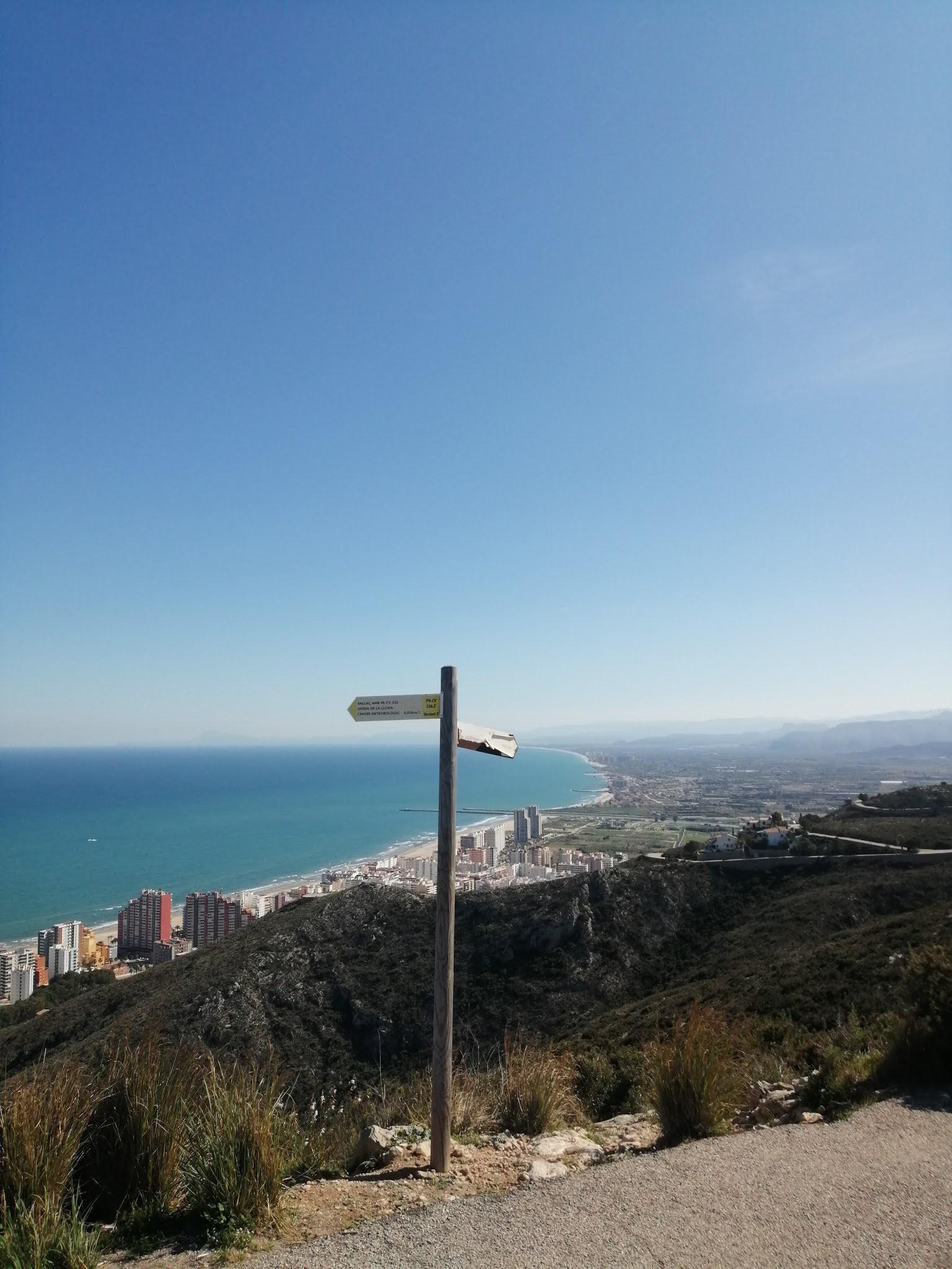 View south from la Bola de Cullera towards el Montgó and the province of Alicante