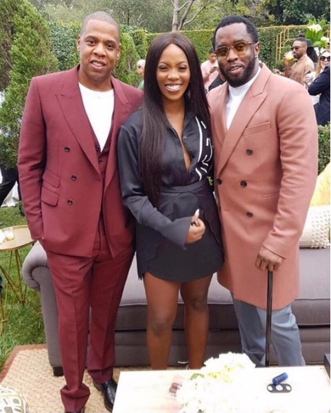 Smiling Tiwa Savage Pictured With Us Rappers, Jay Z And Diddy