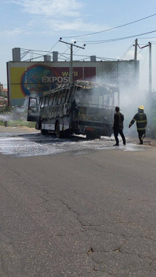 Deeper Life church members escape death as a bus bursts into flames in Lagos2