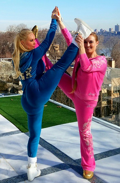 Coco Austin And Her Sister S Yoga Moves Are Off The Chain