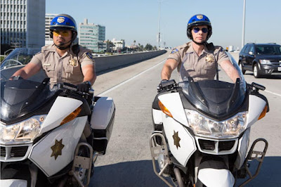 Michael Pena and Dax Shepard in CHIPs movie