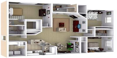denah rumah minimalis 3 kamar ukuran 6x12