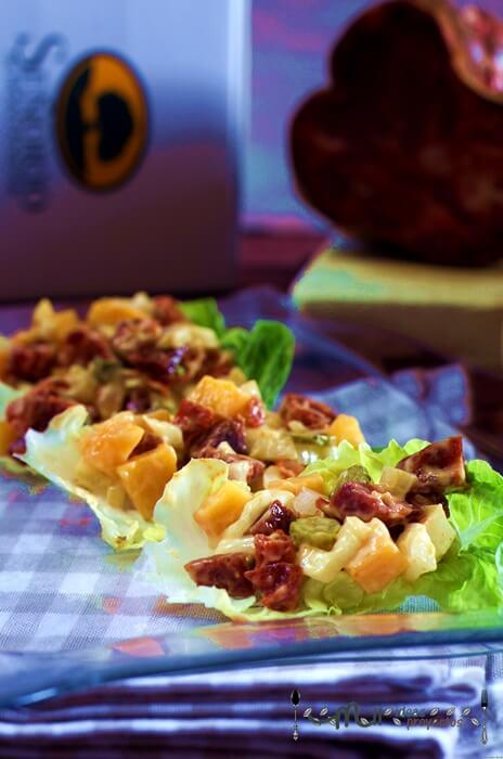 receta de ssam de morcón y melocoton
