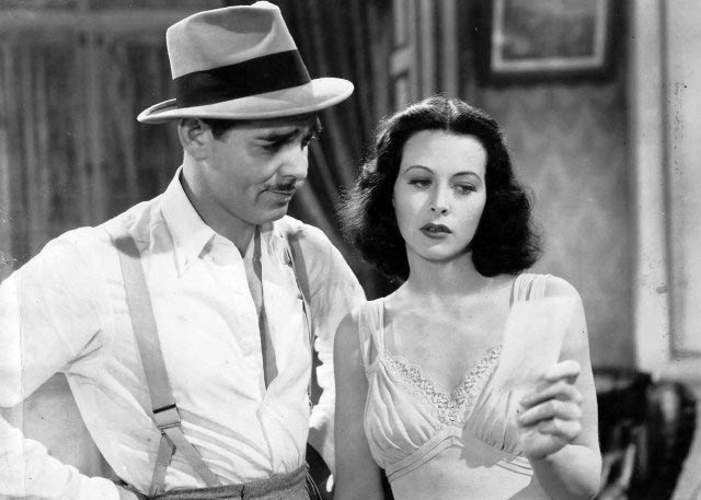 Hedy Lamarr with Clark Gable worldwartwo.filminspector.com