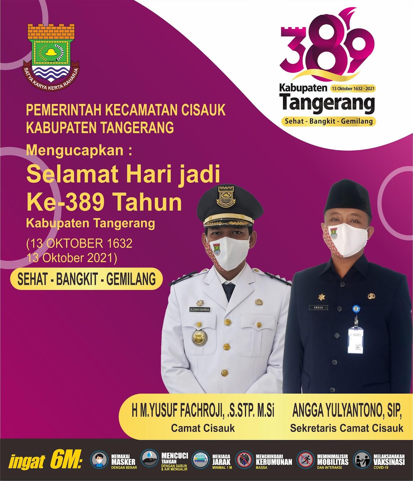 Pemerintah Kecamatan Cisauk Ucapakan Hari jadi Kabupaten Tangerang Ke-389