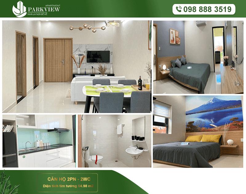 Thiết kế mẫu phòng khách căn hộ 2 pn dự án  Park View Thuận An  Bình dương