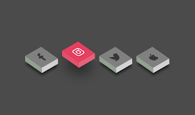 Social Icon Pure CSS tricks hover 3D CSS  Effects