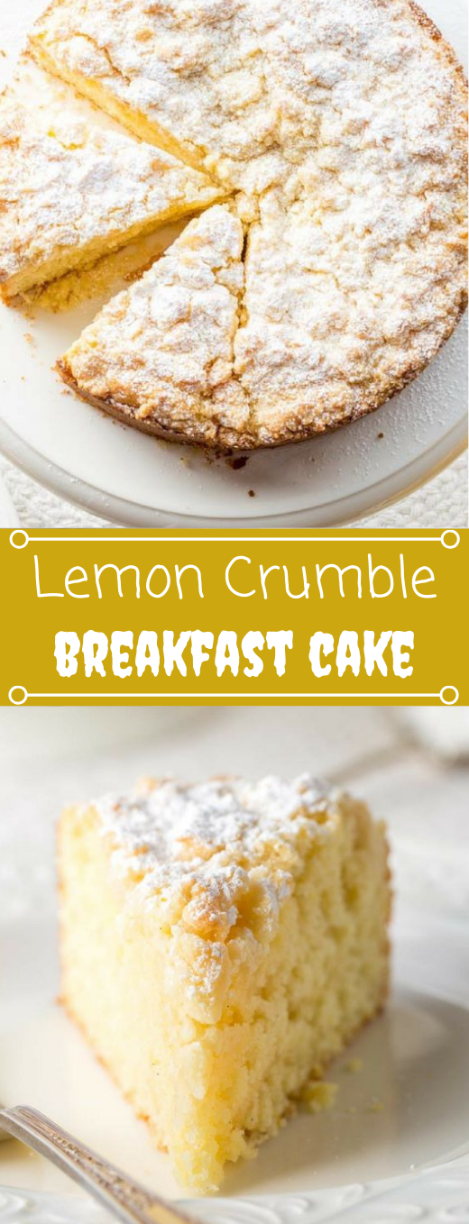 Lemon Crumble Breakfast Cake #desserts #cakes #lemon #breakfast #brownies