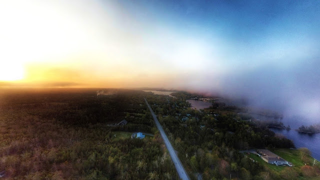 Low cloud, fog, and sunset make for an excellent photoshoot in the sky.