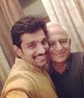 Pratik Gandhi with her father, Dad