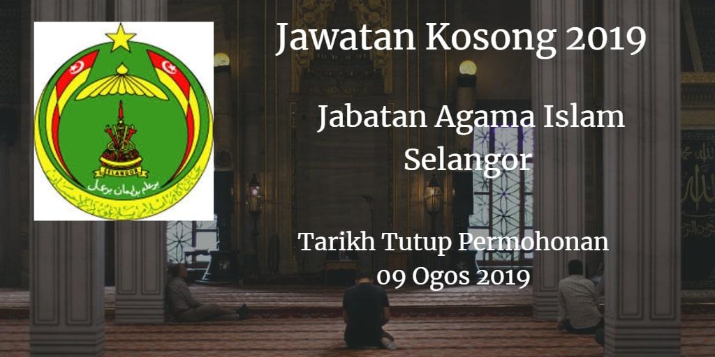 Jawatan Kosong  JAIS 09 August 2019