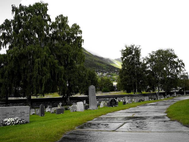 Hřbitov, Staykyrkje, Norsko, příroda, město