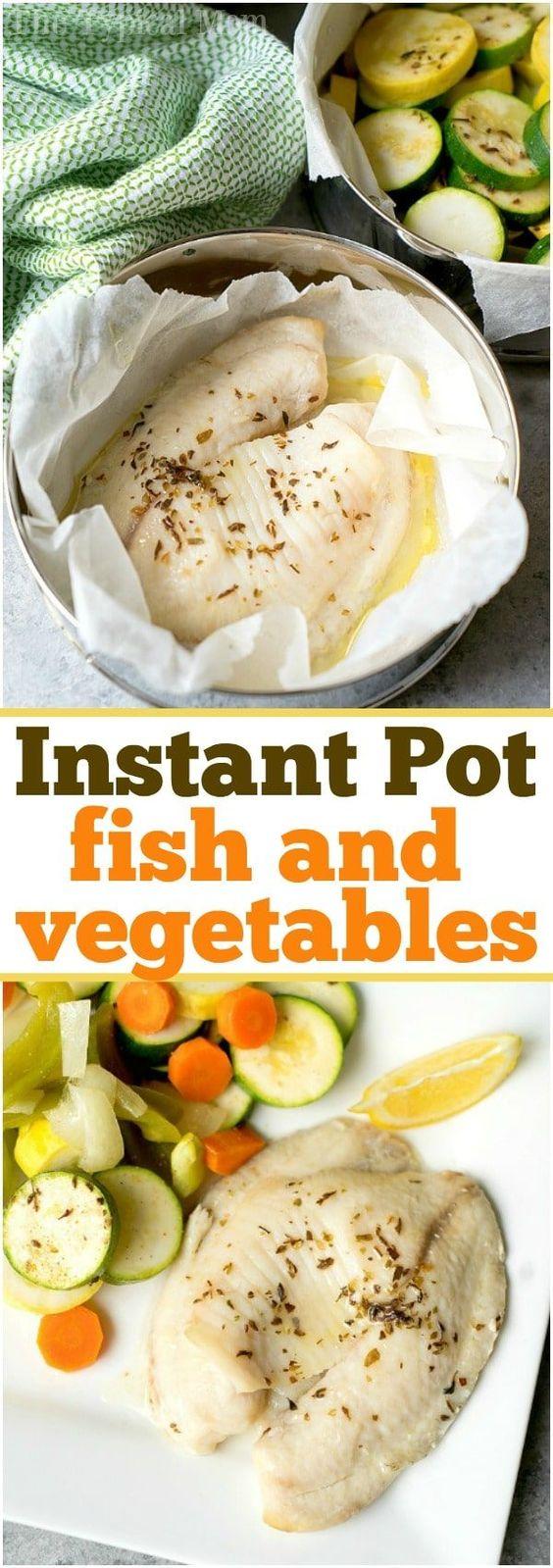 Best Instant Pot Fish & Vegetables