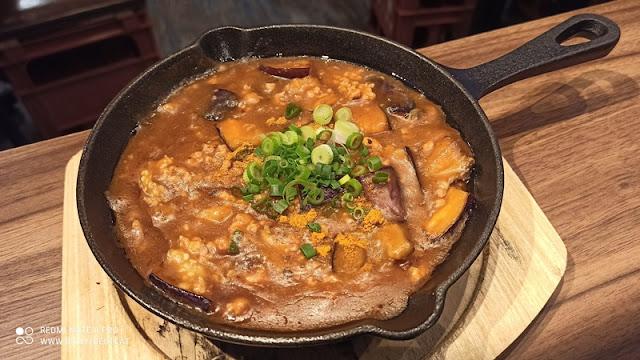 Teppan Sakaba Menu - Teppan Curry Eggplant