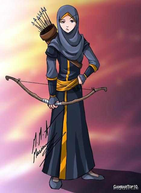 10 Gambar Kartun Muslimah