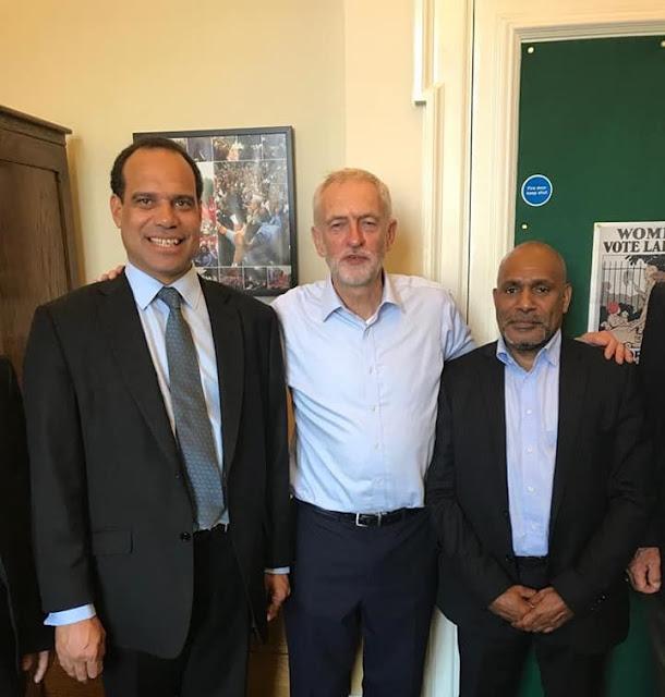Menlu Vanuatu, Ketua Oposisi Inggris Jeremy Corbyn dan Benny Wenda Bertemu di Inggris