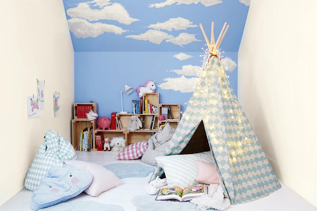 Dulux Storybook Clouds Bedroom #KidsBedroom