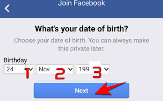 enter your date of birth and click next