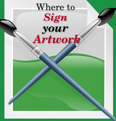Where to sign your artwork