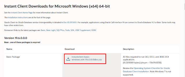 Cara Install Oracle Instant Client di Windows