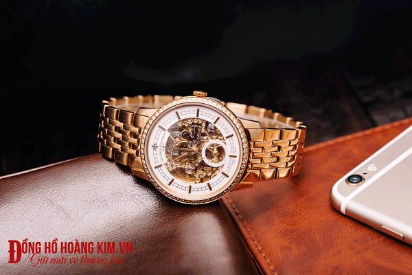 đồng hồ cơ nam dây sắt lộ máy thời trang