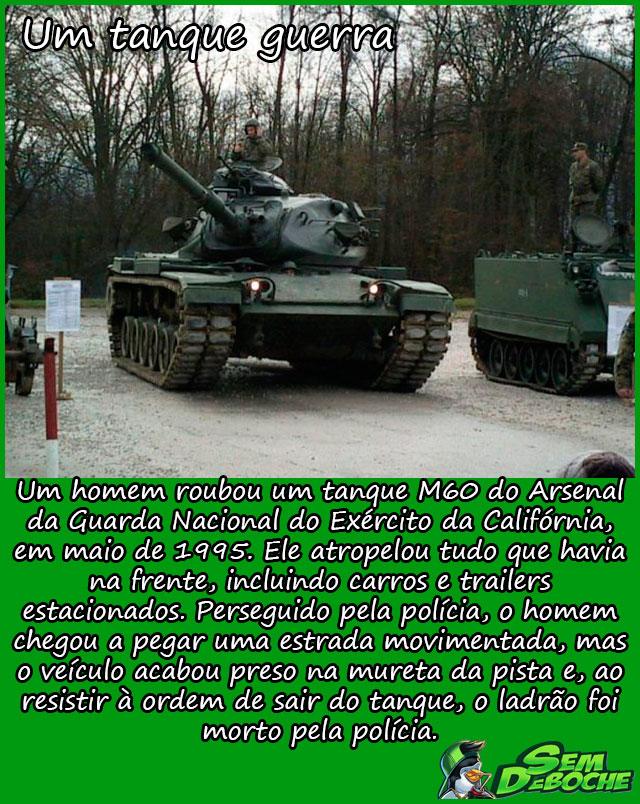 Um tanque guerra