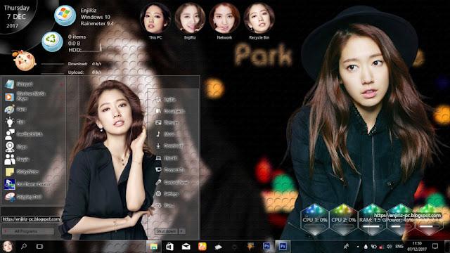 Windows 10 Ver. 1709 Theme Park Shin Hye by Enji Riz