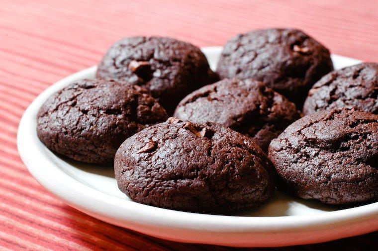 Galletas de chocolate con cacao y sin manteca