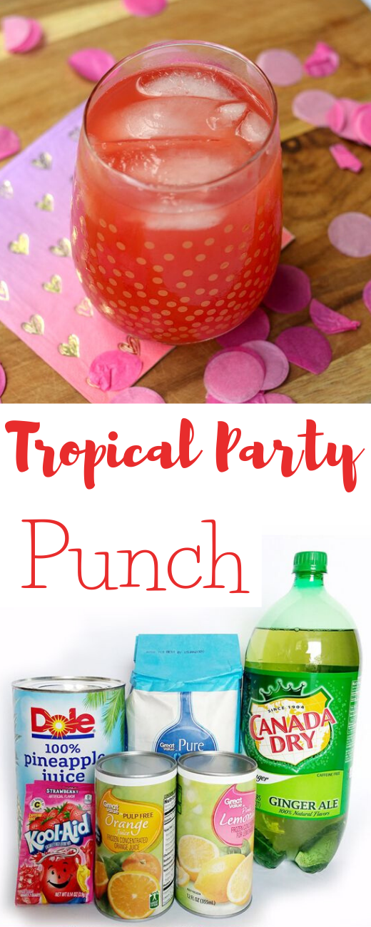 Tropical Party Punch Recipe #recipes #party #tropical #drink #sangria