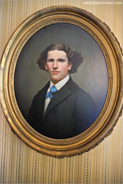 Foto Henry Ellis en el Salón de la Casa Museo de Harriet Beecher Stowe en Hartford, Connecticut