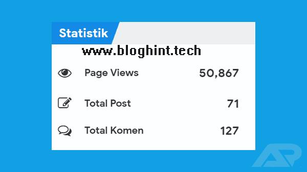 Adding a Statistics Widget on the Blog