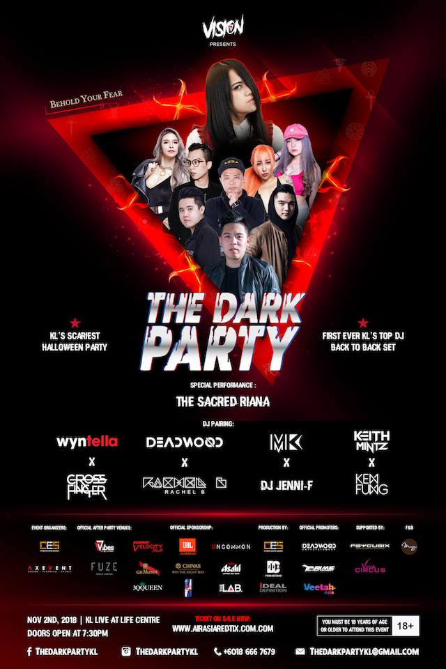 The Dark Party, happening this 2nd November 2018
