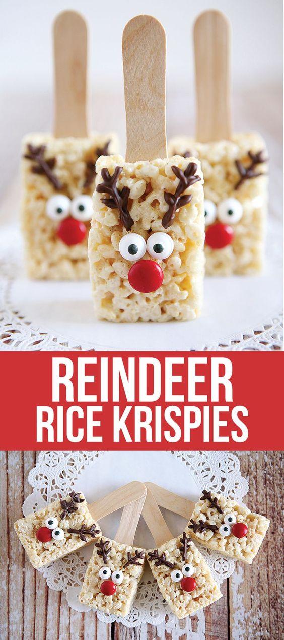 REINDEER RICE KRISPIES RECIPE #cookies #cookierecipes #easycookierecipes #reinderrice #rice #krispies #ricekrispies