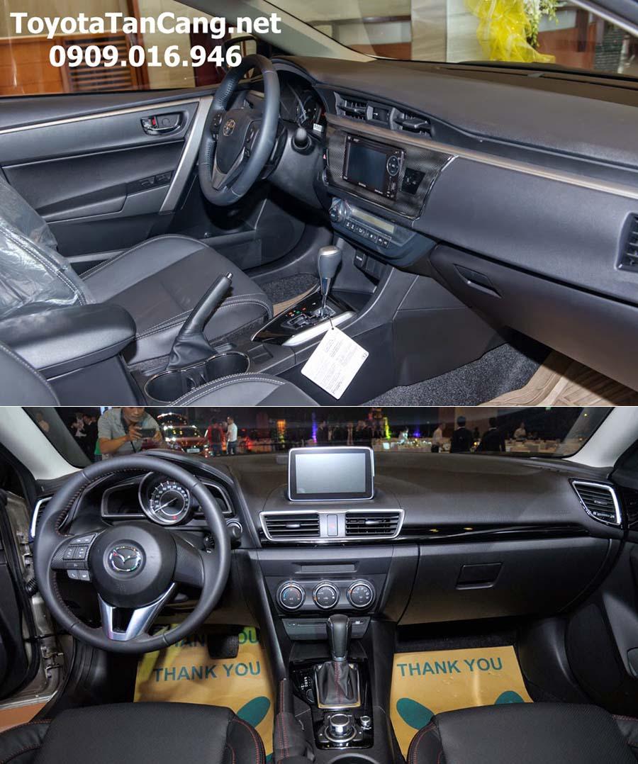 toyota corolla altis 2016 vs madza 3 2016 7 -  - Nên mua xe Mazda 3 hay Toyota Corolla Altis 2016 trong phân khúc sedan hạng C