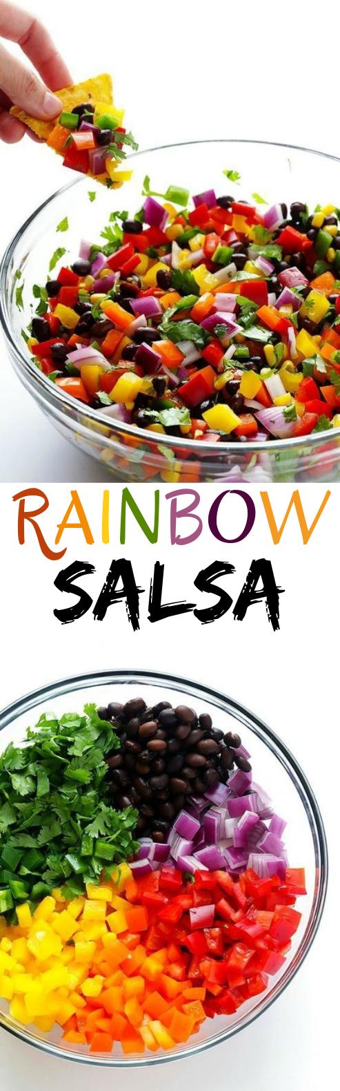 RAINBOW SALSA #vegan #healthy