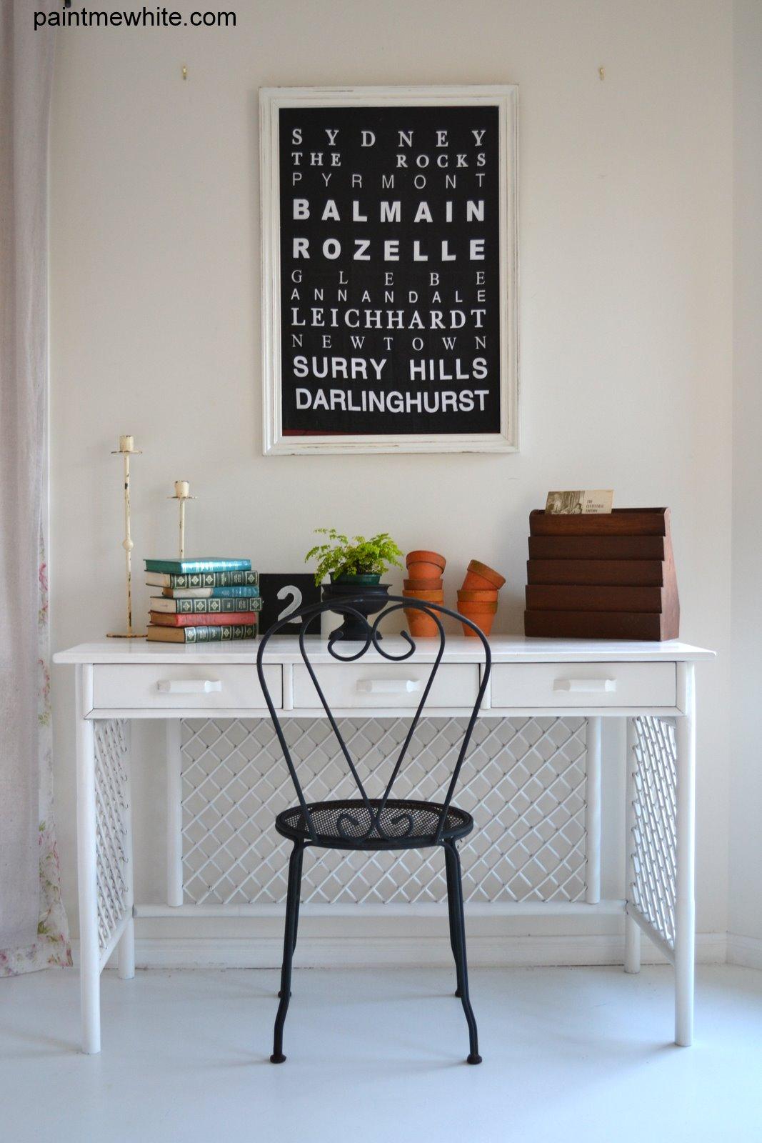 Boho Desk Paint Me White