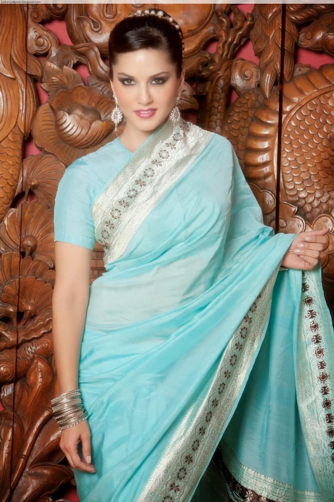 Sunny Leone Nude Photo Shoot In Saree, Bollywood Nude -8400