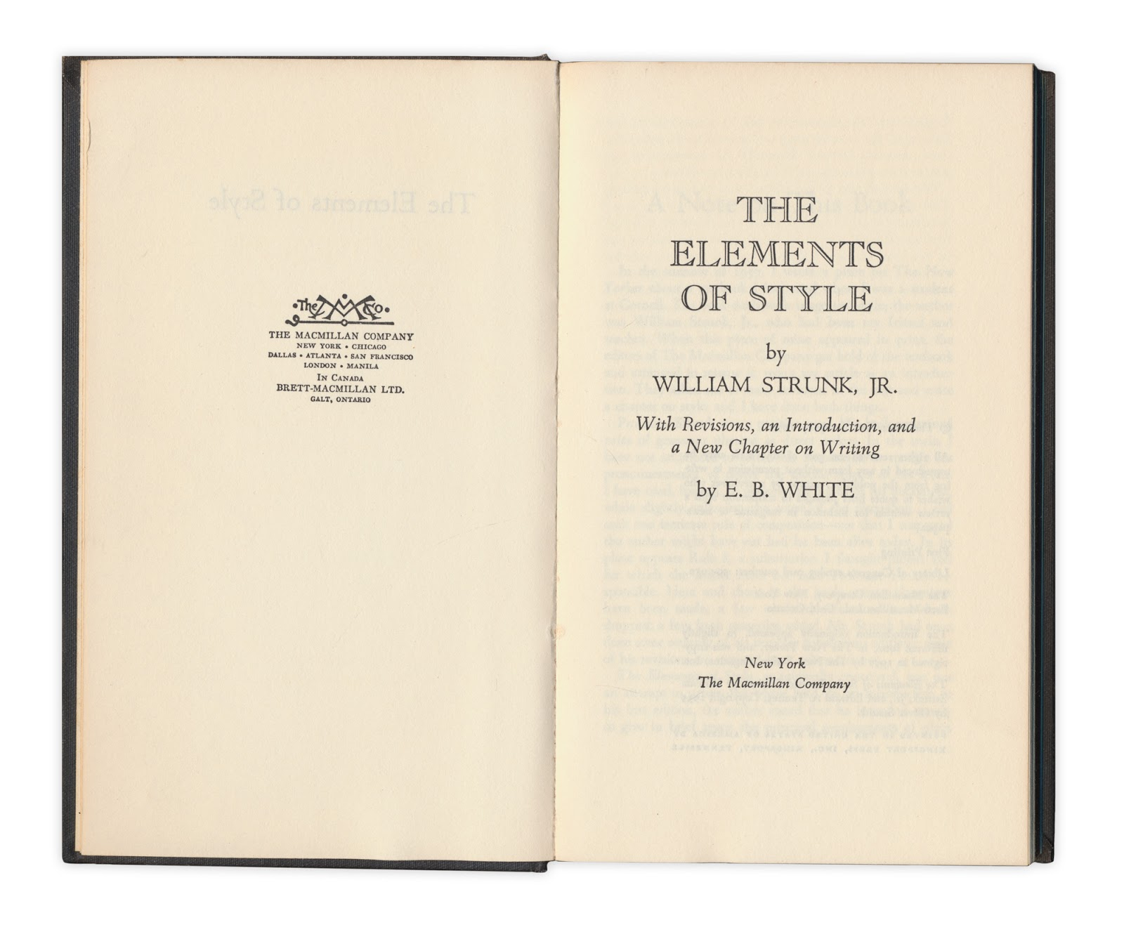 strunk white the elements The elements of style began life as a packet professor william strunk would give to his students every year to guide their writing his rules of usage.